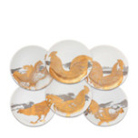 Roosters Gold Platinum Canapes Mixed Boxed Set/6 | Gracious Style