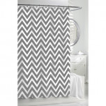 Chevron Shower Curtain - Grey/White