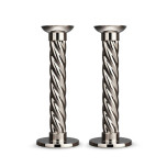 L'Objet Carrousel Stainless Steel Candlesticks