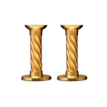 L'Objet Carrousel Gold Candlesticks - Small, Pair 5.5 in