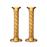 L'Objet Carrousel Gold Candlesticks - Large, Pair 8 in