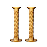 L'Objet Carrousel Gold Candlesticks