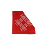 Truman Cocktail Napkin 6 in x 6 in Red