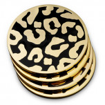 L'Objet Leopard Coaster Set, Four
