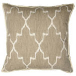 Monaco Linen With White Eyelash Trim Pillow 20 X 20 In | Gracious Style