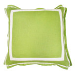 Lime Green Linen 20 X 20 Pillow With Natural Twill Tape | Gracious Style