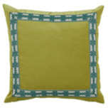Quince Velvet With Amalfi Glass Tape Pillow 22 X 22 In   Gracious Style