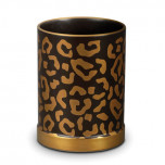 L'Objet Leopard Pencil Cup 3.5 in