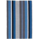 Midnight Stripe Woven Cotton Rug
