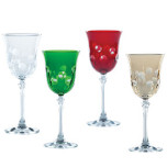 Dots Clear & Color Stemware by Vietri | Gracious Style
