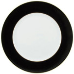 Raynaud Horizon Black with Gold Filet Buffet Plate 12.25 in Round