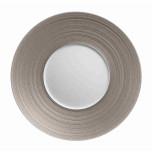 J.L. Coquet Hemisphere Metallic Grey Dinnerware