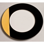 Twiggy Black/Grapefruit Platinum Dinnerware