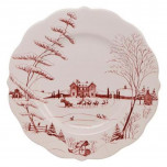 Country Estate Scallop Winter Frolic, Christmas Eve Dinnerware