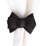 Tuxedo Napkin Ring Black 3 in W, 2.5 in H