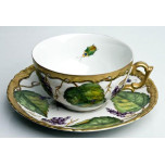 Anna Weatherley Wildberry Lavendar Tea Cup & Saucer