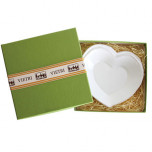 Lastra White Heart Dish With Gift Box