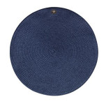 Round Medallion Millinery Placemat Navy Blue 15