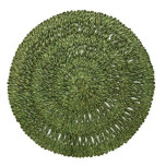 Straw Loop Round Placemat Green Tea 16