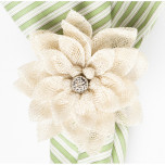 Dahlia Napkin Ring Natural 4