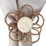 Rustic Twine Flower Napkin Ring Natural 2