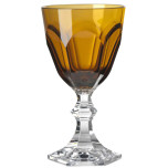 Dolce Vita Amber Wine Goblet 6.5 in High 4 oz