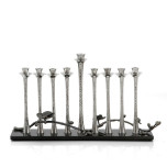 Black Orchid Menorah