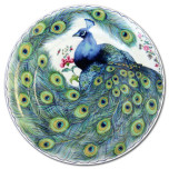 Peacock Feather Dessert Plates & Mugs | Gracious Style