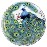 Peacock Feather Dessert Plates & Mugs