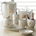 Mare Shells Pearl Bath Accessories | Gracious Style