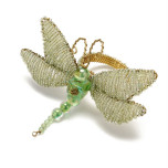 Dragonfly Napkin Rings - Green