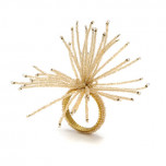 Spider Beaded Burst Napkin Rings - Champagne