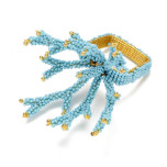 Coral Branch Napkin Rings - Turquoise