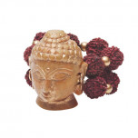 Buddha Head Napkin Ring - Natural/Gold