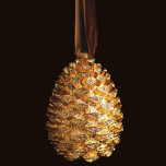 Pinecone Gold Holiday Tree Ornaments   Gracious Style