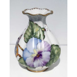 Anna Weatherley Giftware Purple Pansy Bud Vase 4.5 in High