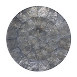 Round Capiz Shell Gray Placemats