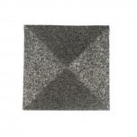Metal Bead Square Placemats - Gunmetal