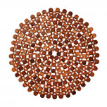 Round Bamboo Placemats - Brown