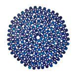 Round Bamboo Placemats - Navy