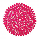 Round Bamboo Placemats - Pink