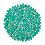 Round Bamboo Turquoise Placemats