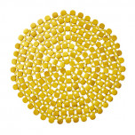 Round Bamboo Yellow Placemats