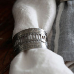 Victorian Oval Silver Napkin Rings - Four