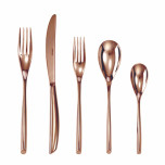Bamboo Copper Stainless Steel Flatware