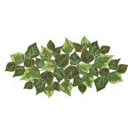 Overlapped Leaves Runner 42 x 20 in - Green
