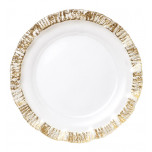 Ruffle Glass Gold Dinnerware