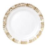 Ruffle Glass Gold Dinnerware | Gracious Style
