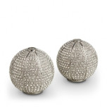 Pave Sphere Platinum Salt & Pepper Shakers | Gracious Style