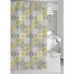 Urban Tiles Shower Curtain Yellow/Grey
